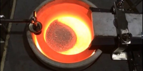 Motor Tilting Gold Melting Furnace