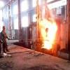 metal melting furnace on site