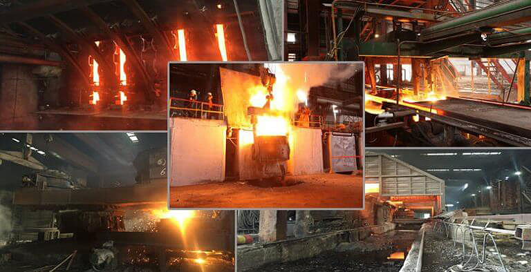 Steel-Induction-furnace-onsite