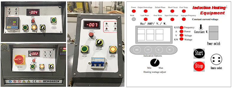 induction heating furnace control panel