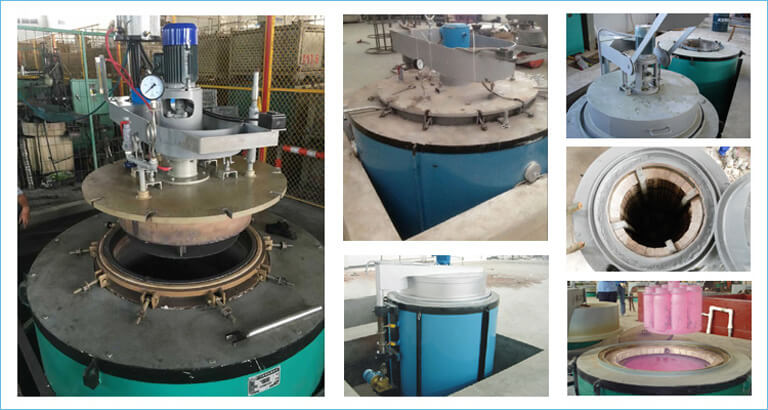 natural gas pit furnace for quenching tempering annealing