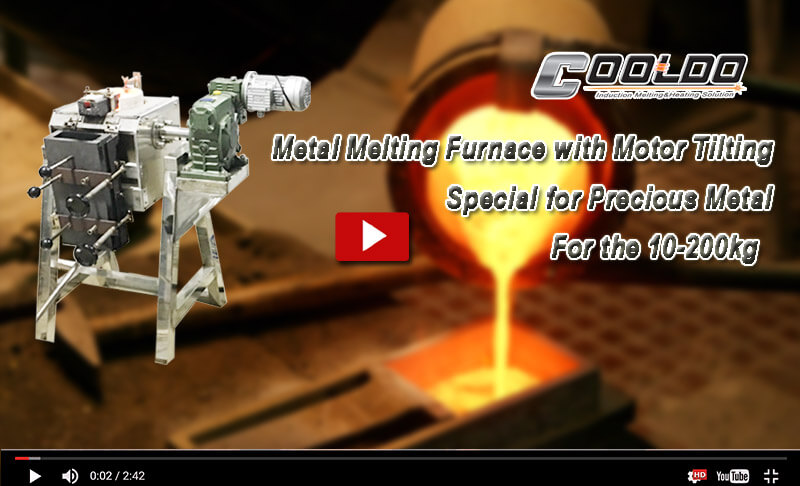 Metal melting furnace with motor tilting