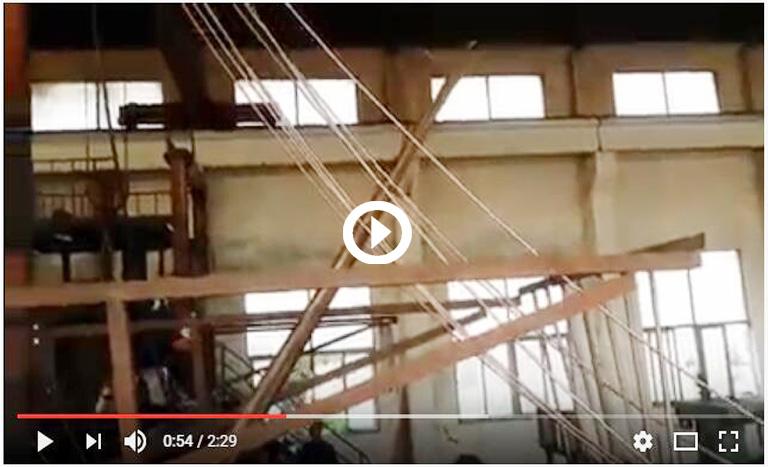 Upward copper casting machine