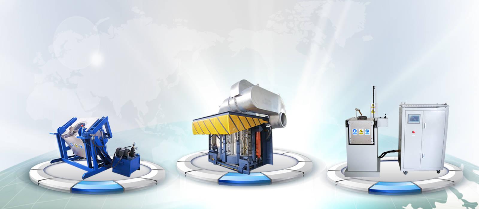 induction melting furnace display