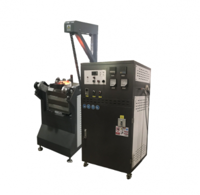 Chain tilting induction melter