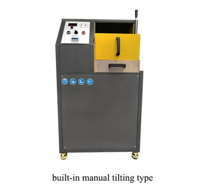 manual tilting gold melting machine