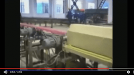 Steel long bar induction quenching/hardening machine