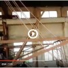 Upward copper continuous casting machine