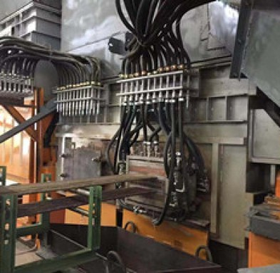 brass horizontal casting machine