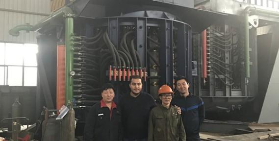 Algeria-Customers-250kg-induction-furnace