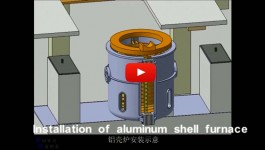 Installation of aluminum shell furnace