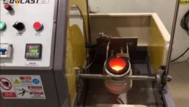 6kg manual tilting gold melting furnace with temperature control