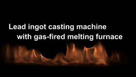 Aluminum ingot casting machine with gas-fired melting furnace