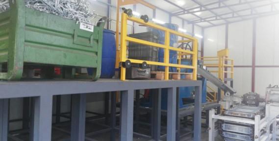 Aluminum Ingot Casting Machine With Melting Furnace To Turkey