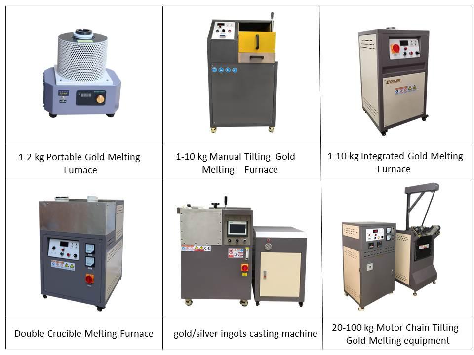 1-100kg gold melting furnace