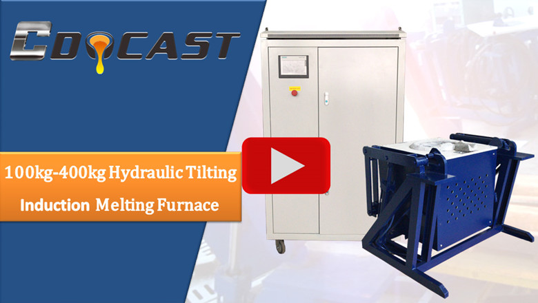 Hydraulic tilting furnace