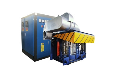 1000kg-50ton-Steel-frame-induction-furnace-with-hydraulic-tilting-system