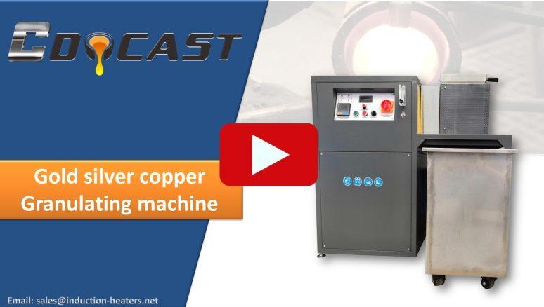 gold silver copper granulating machine