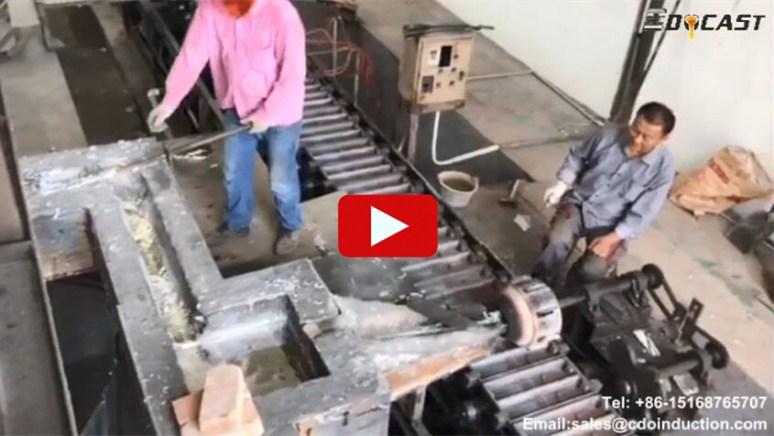 Zinc ingot casting line