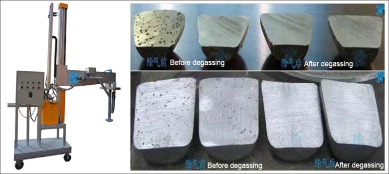 Aluminum degasser 1