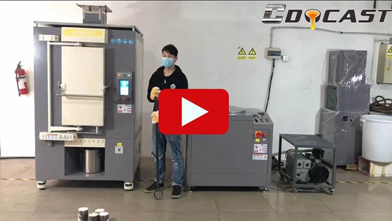 Vacuum centrifugal casting machine
