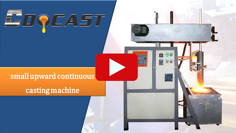 small upward-continuous casting machine