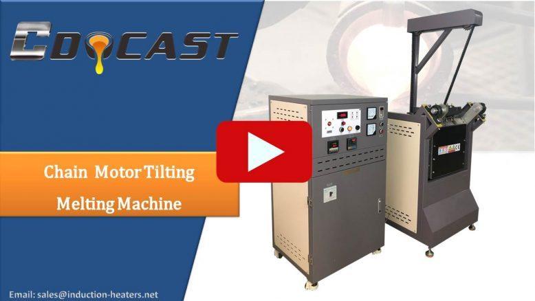Chian motor tilting melting machine