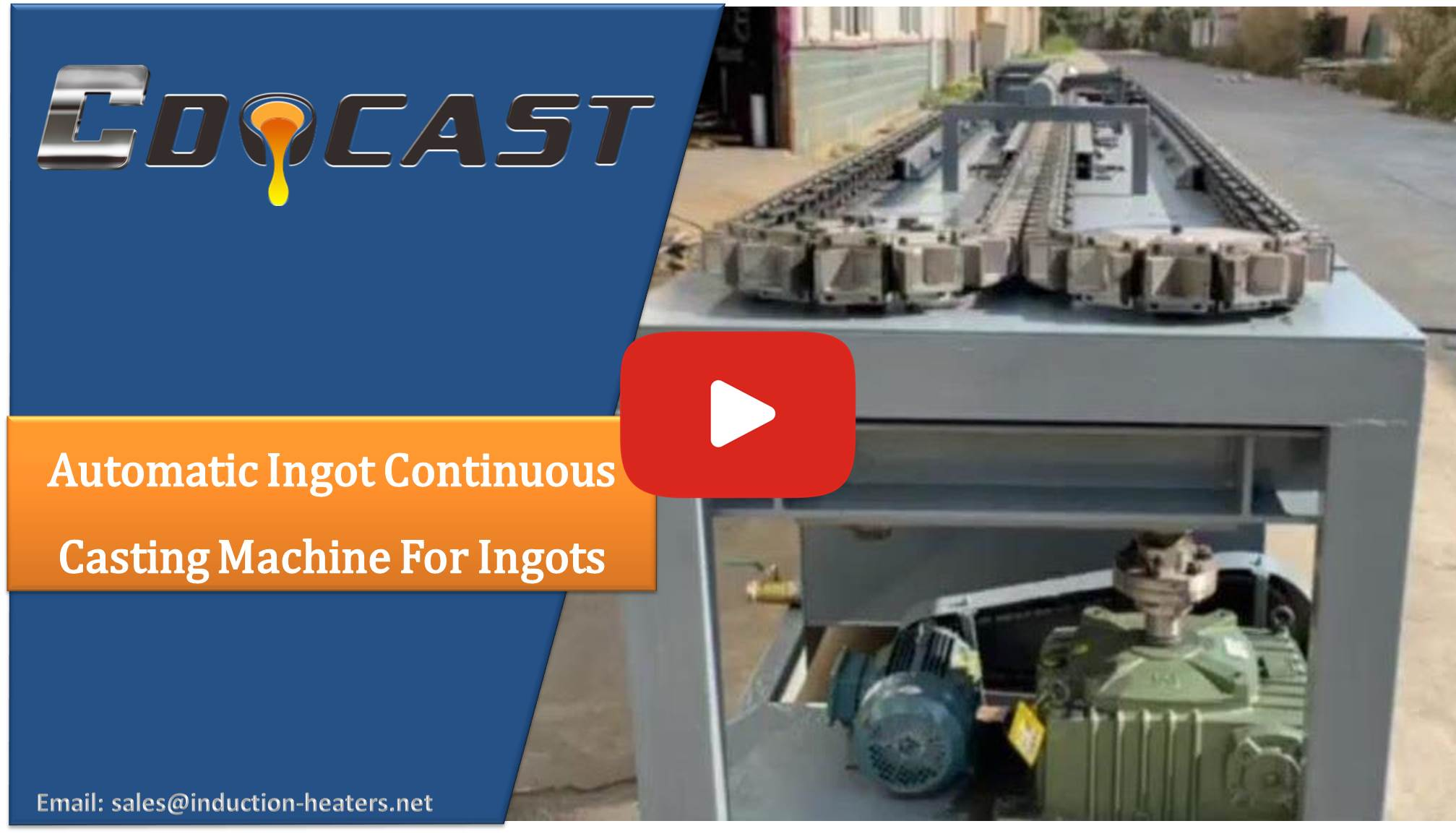 Automatic ingot continuous casting machine for ingots