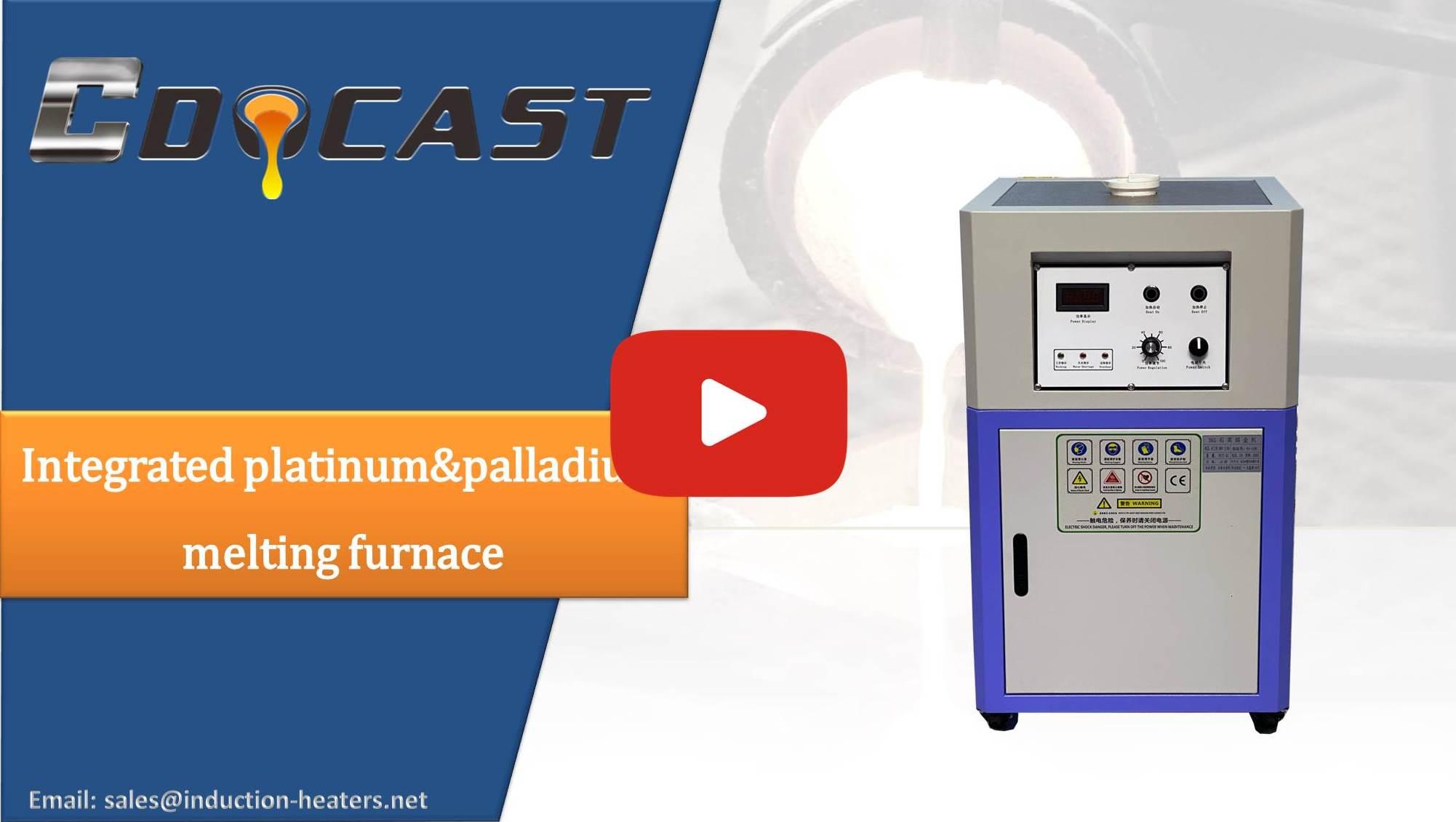 1-15kg integrated platinum&palladium melting furnace
