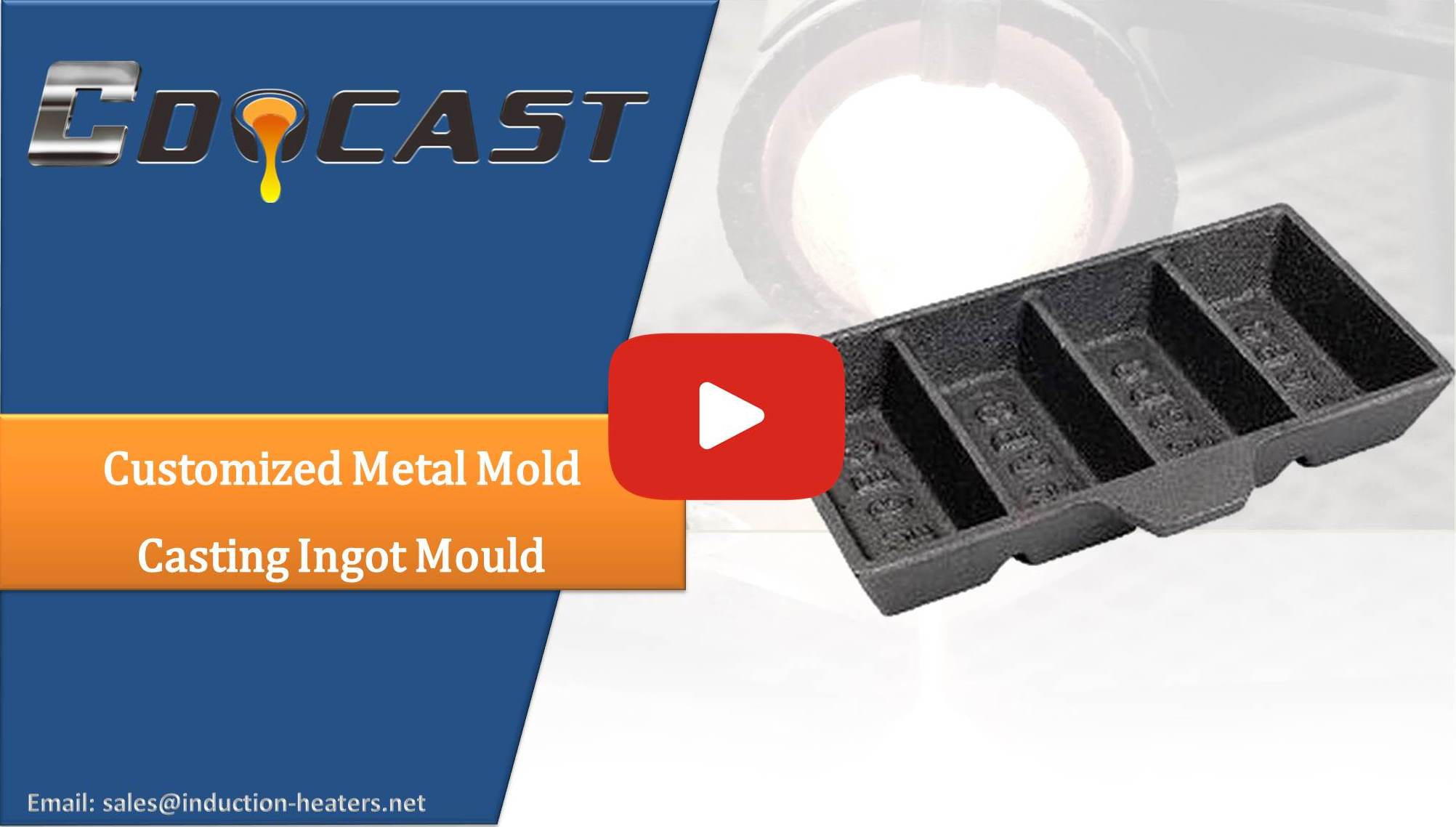 Customized metal mold casting ingot mould