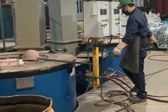 gas melting furnace application
