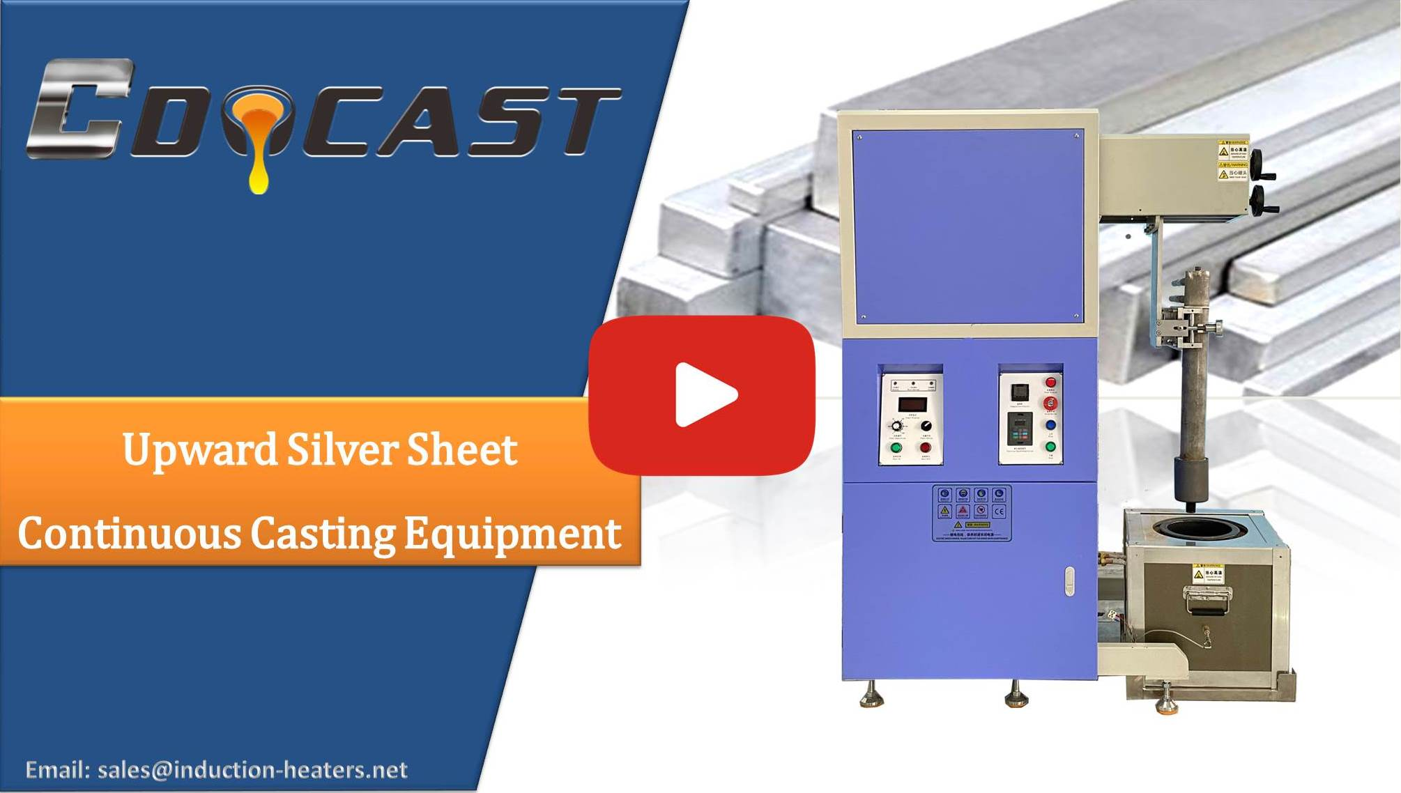 silver sheet continuous casting equipment